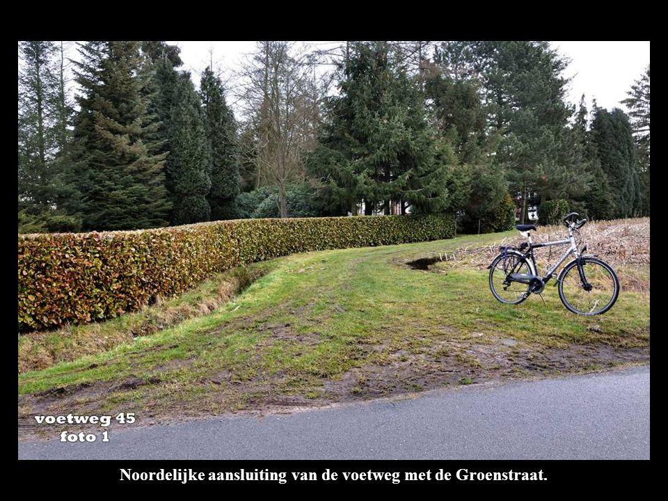Noordelijke aansluiting van de voetweg met de Groenstraat.