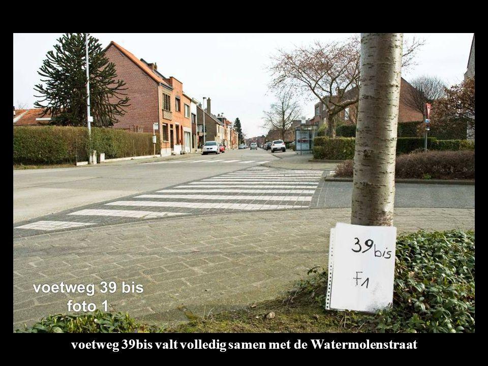 voetweg 39bis valt volledig samen met de Watermolenstraat
