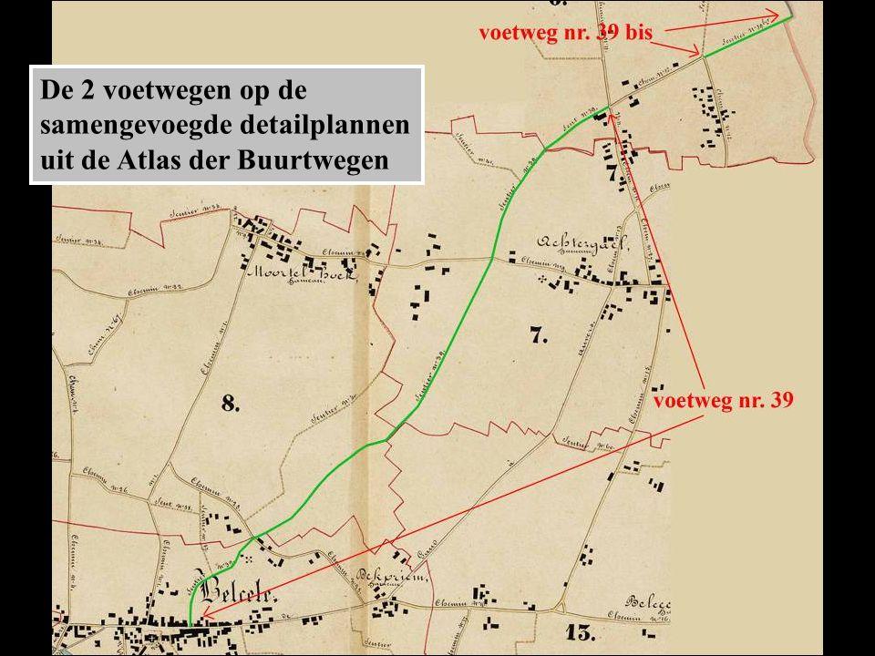 De 2 voetwegen op de samengevoegde detailplannen uit de Atlas der Buurtwegen