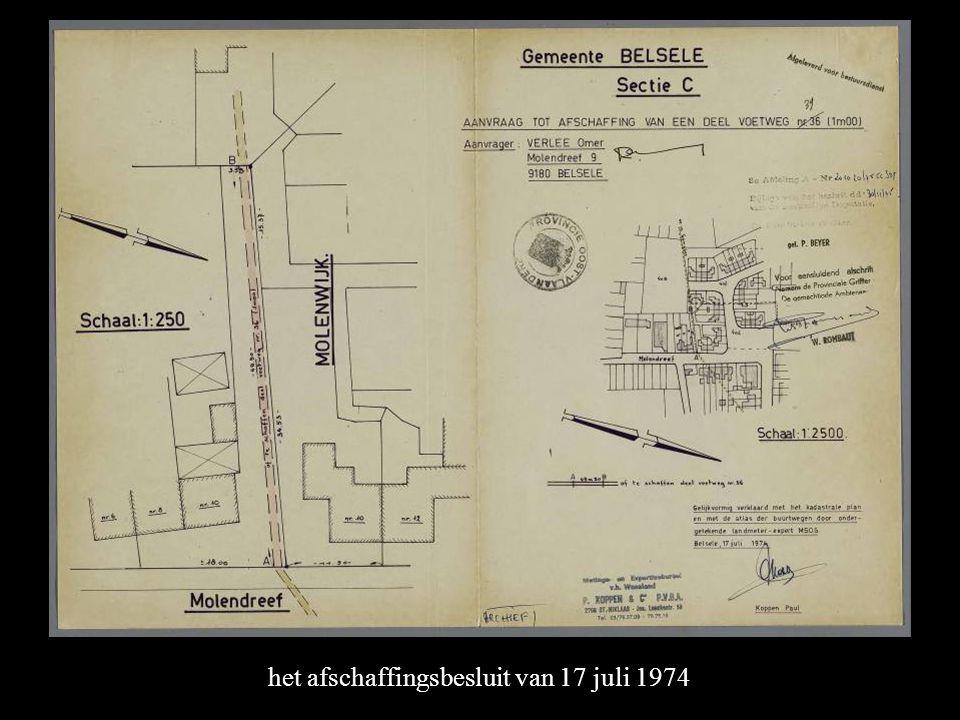 het afschaffingsbesluit van 17 juli 1974