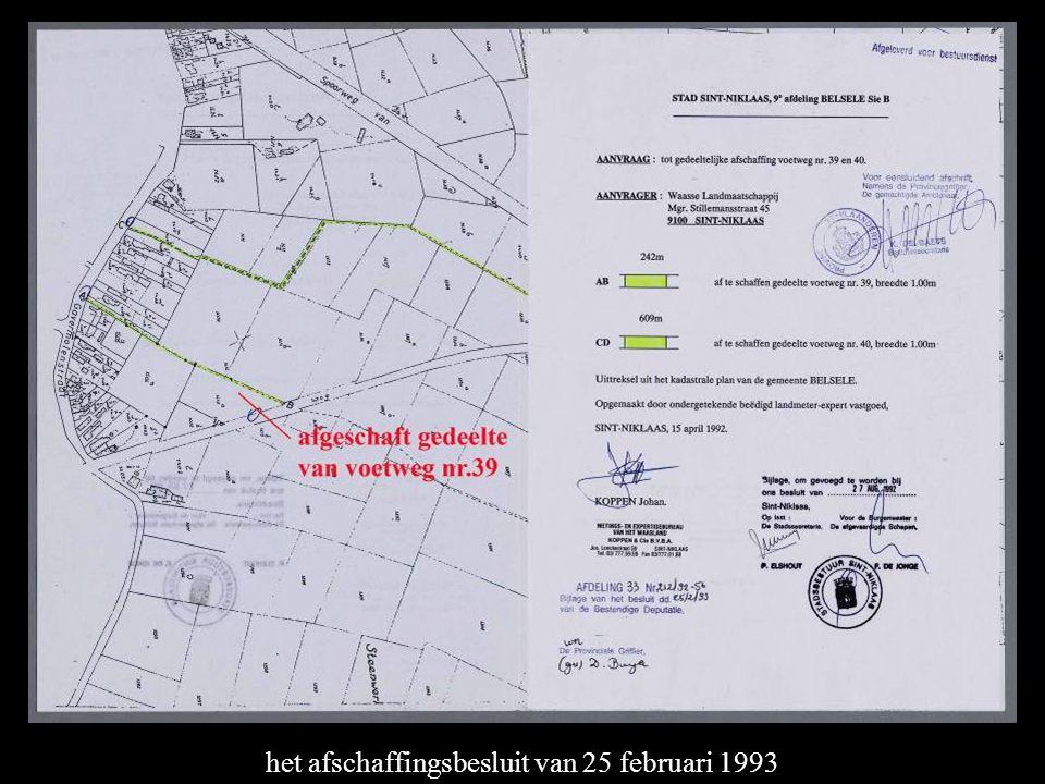 het afschaffingsbesluit van 25 februari 1993