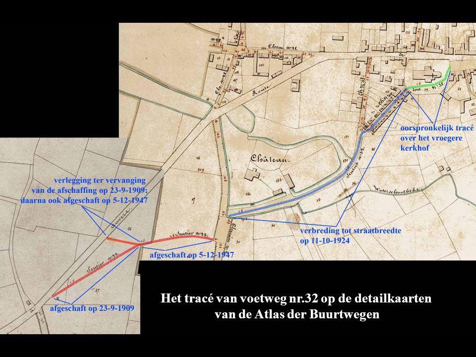 Het tracé van voetweg nr.32 op de detailkaarten van de Atlas der Buurtwegen