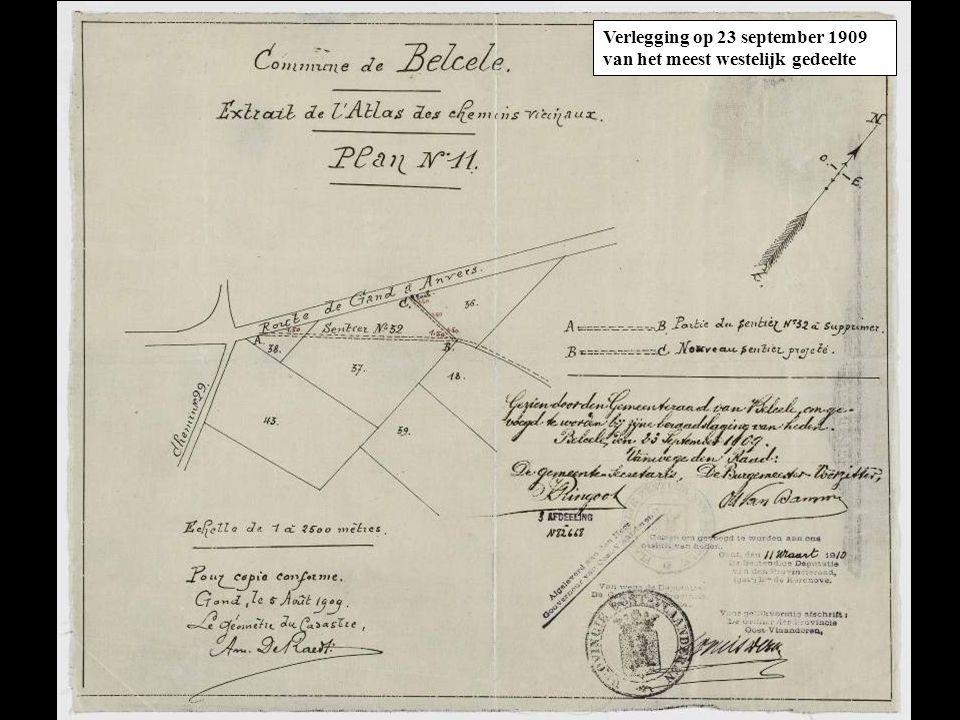 Op 11 oktober 1924 wordt het gedeelte dat samenvalt met de huidige Kasteeldreef en het Hof van Belsele officieel op straatbreedte gebracht.