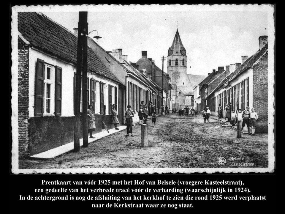 Prentkaart van Hof van Belsele (in zuidelijke richting), vermoedelijk gemaakt rond 1950.