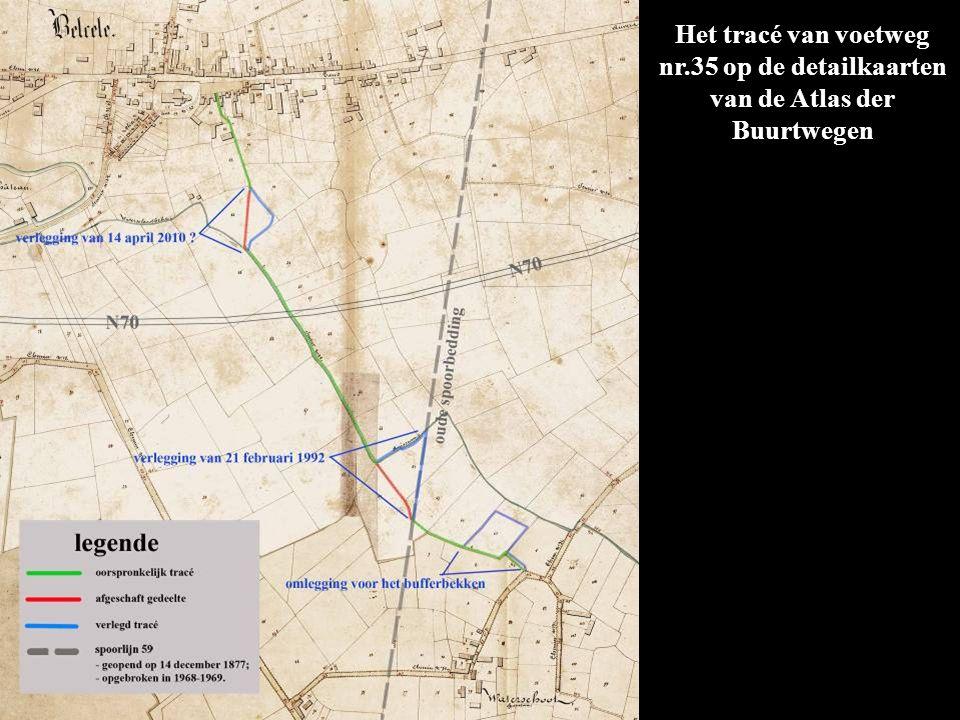 Het tracé van voetweg nr.35 op de detailkaarten van de Atlas der Buurtwegen