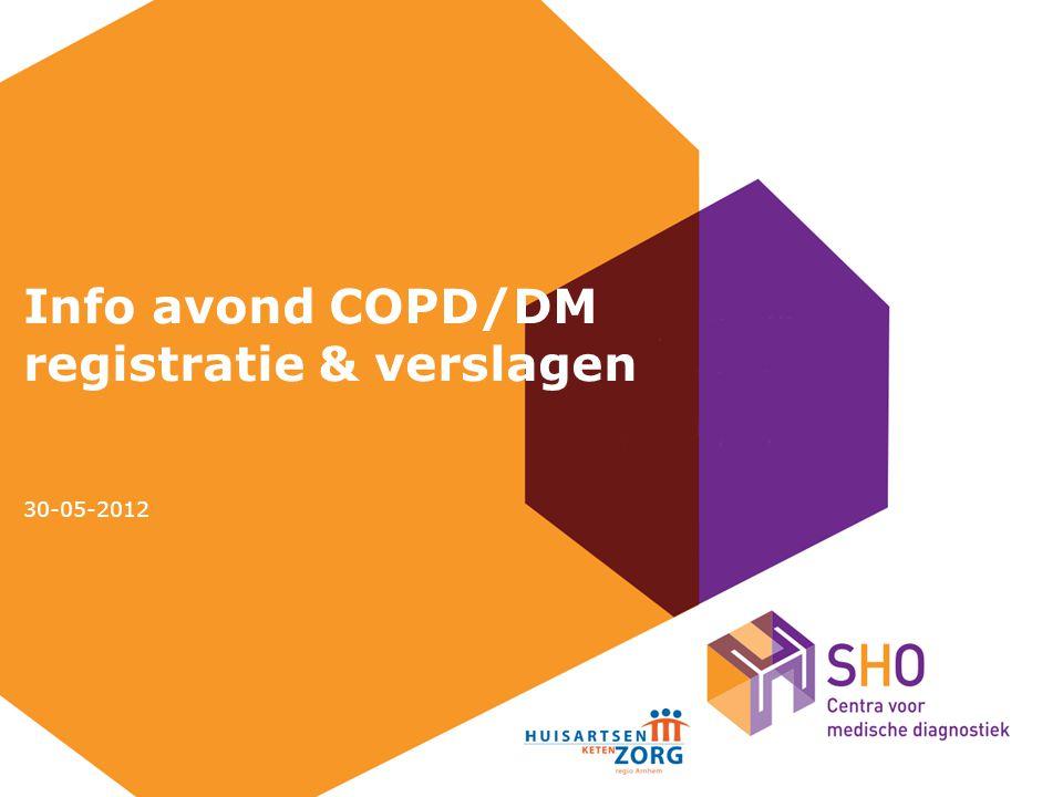 Info avond COPD/DM registratie & verslagen 30-05-2012