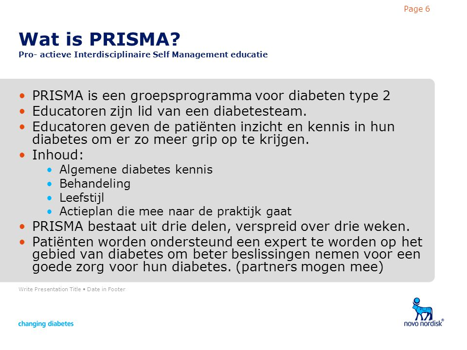 Write Presentation Title Date in Footer Page 6 Wat is PRISMA.