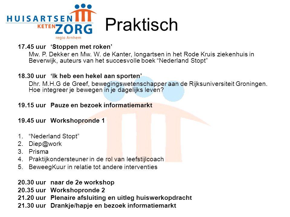 Praktisch 17.45 uur 'Stoppen met roken' Mw. P. Dekker en Mw. W. de Kanter, longartsen in het Rode Kruis ziekenhuis in Beverwijk, auteurs van het succe