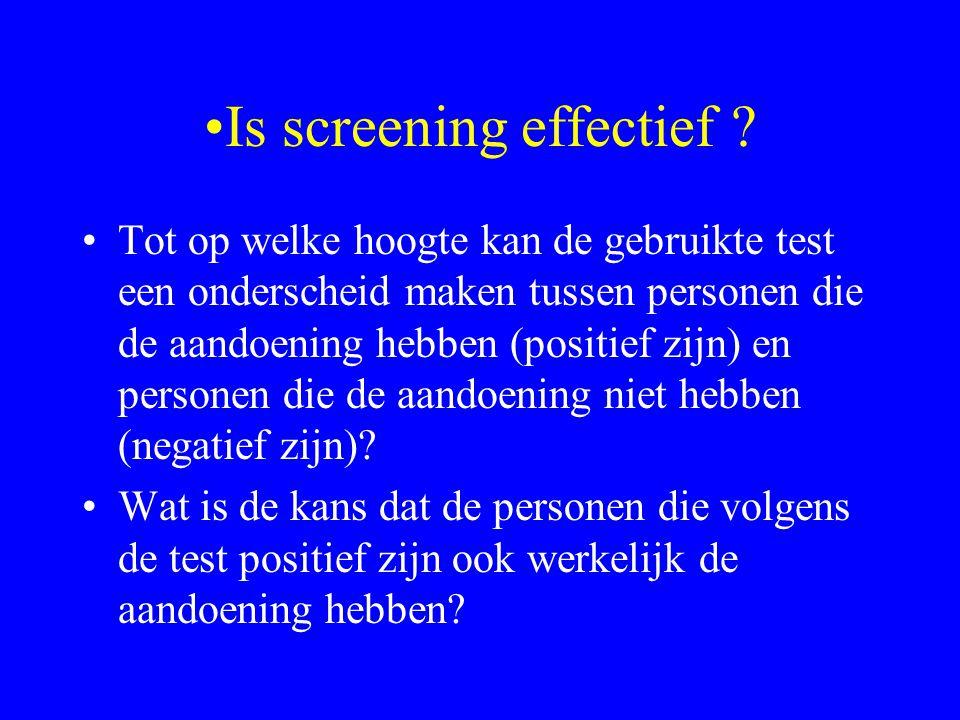 Is screening effectief .