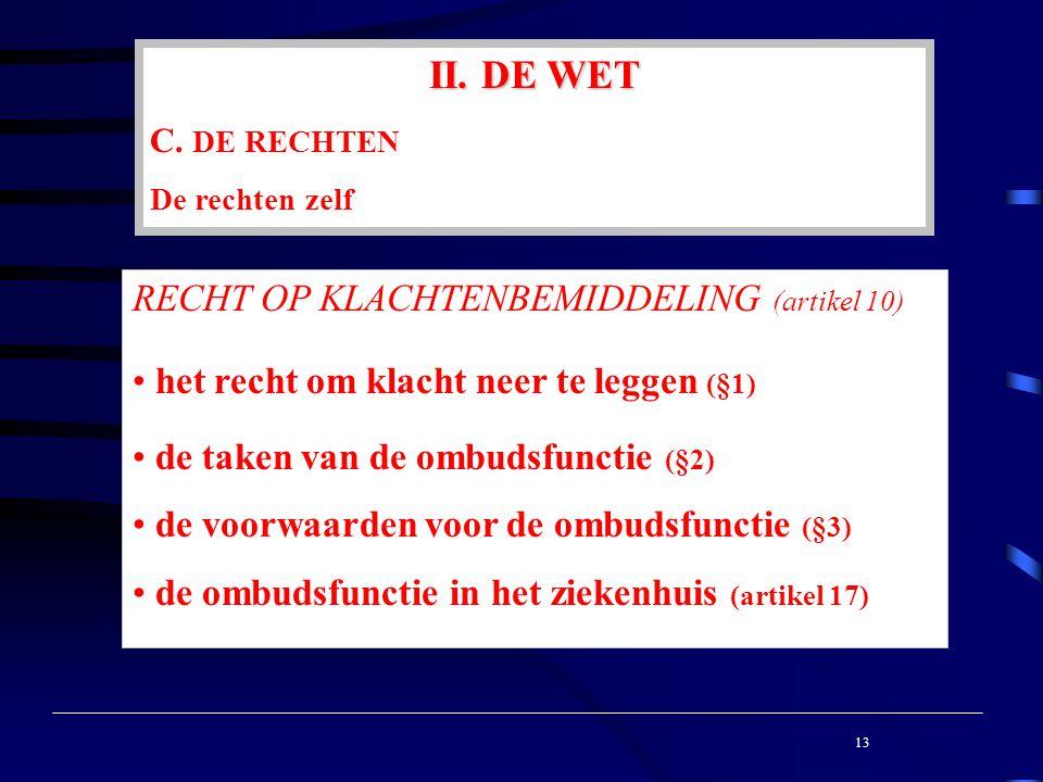 II. DE WET C.