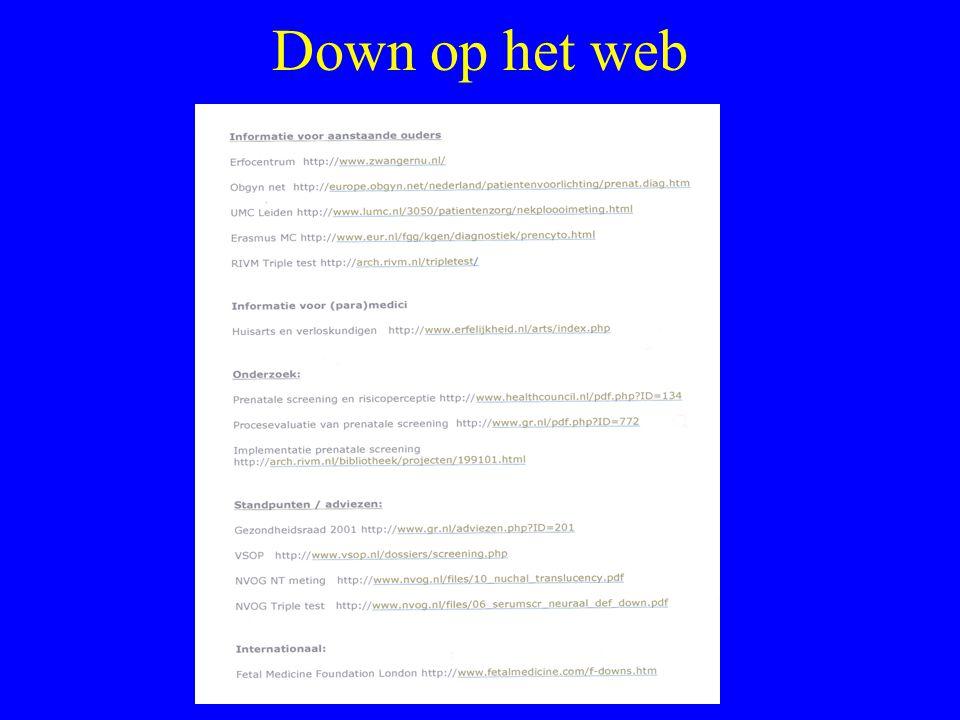 Down op het web