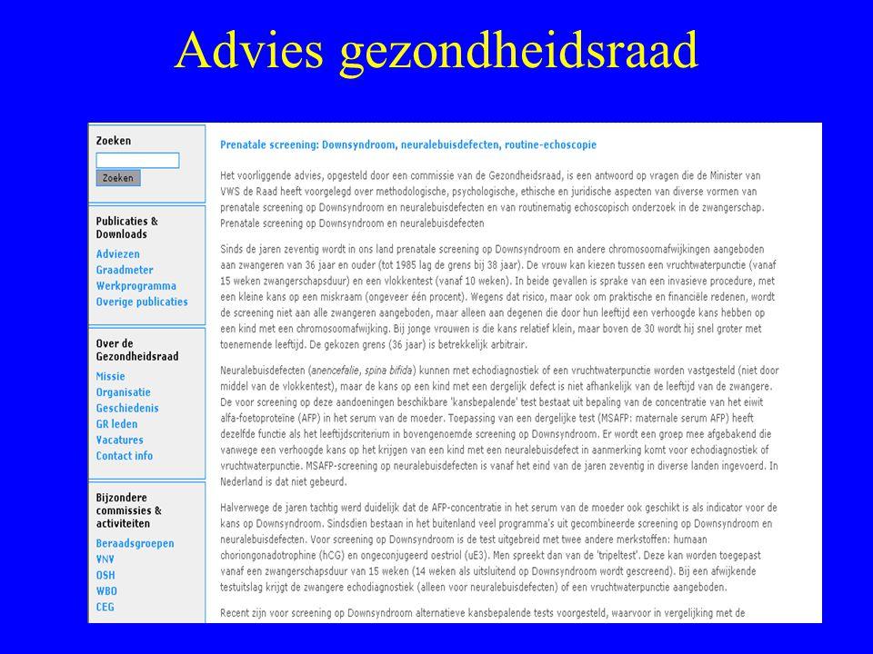 Advies gezondheidsraad