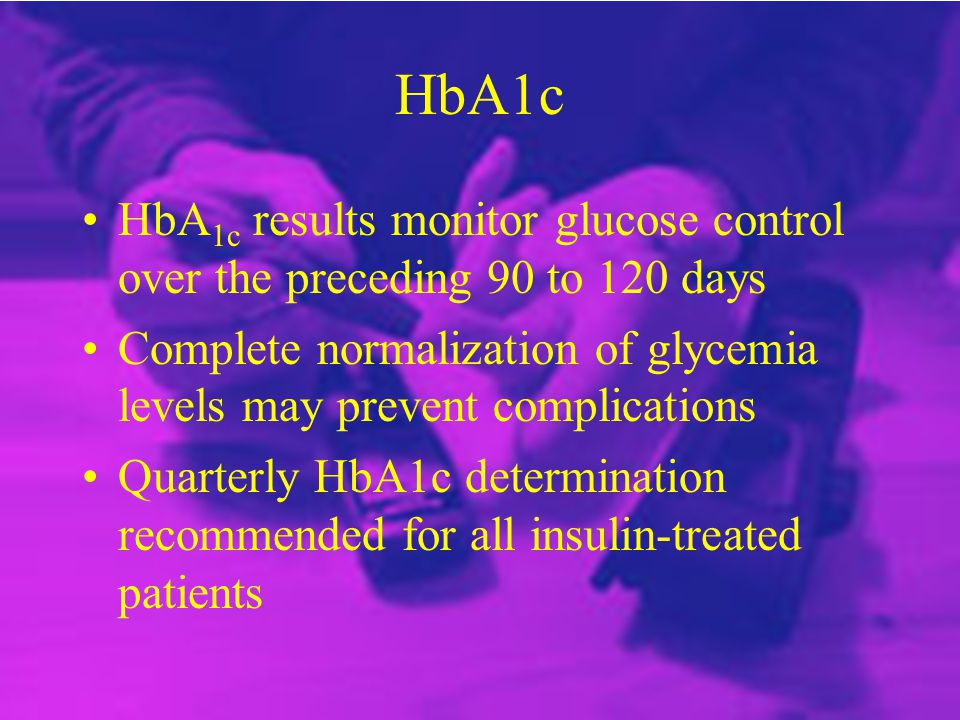 HbA1c - terugblik in de tijd.