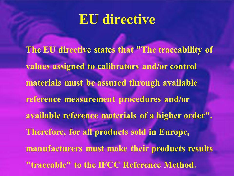 EU directive The EU directive states that
