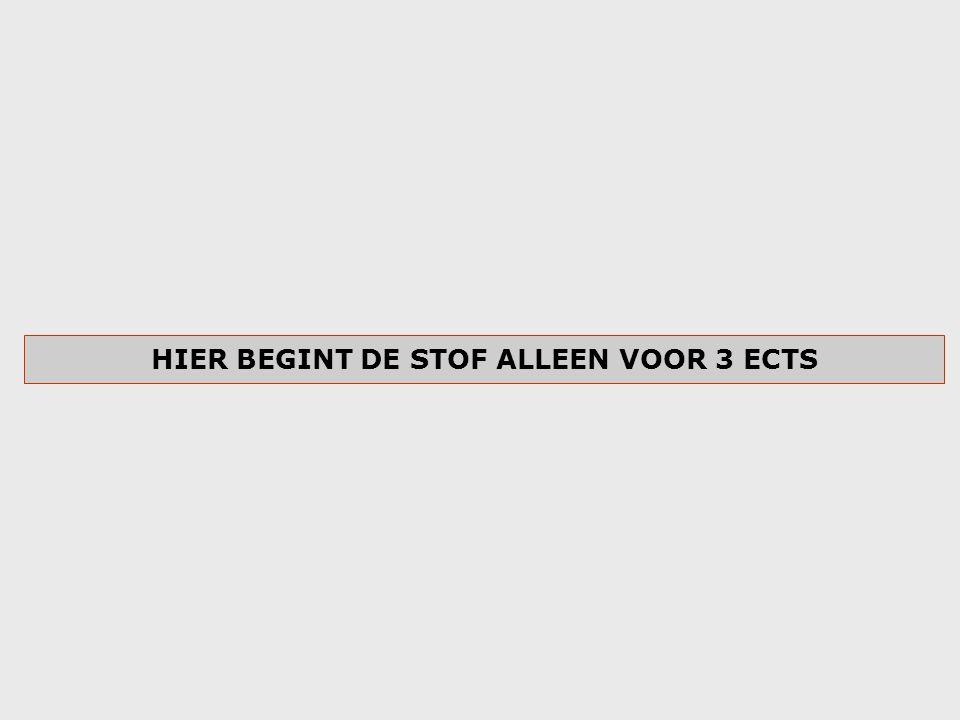 HIER BEGINT DE STOF ALLEEN VOOR 3 ECTS