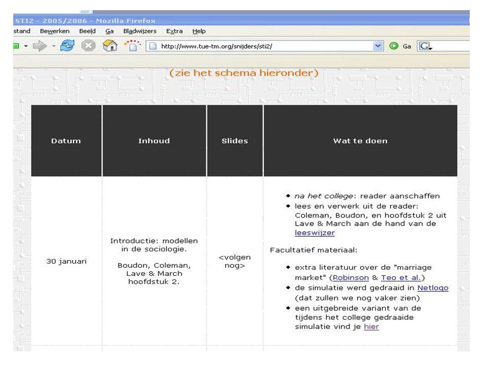 Te doen voor volgende keer Schrijf je in op Studyweb (0A625) Koop de reader.