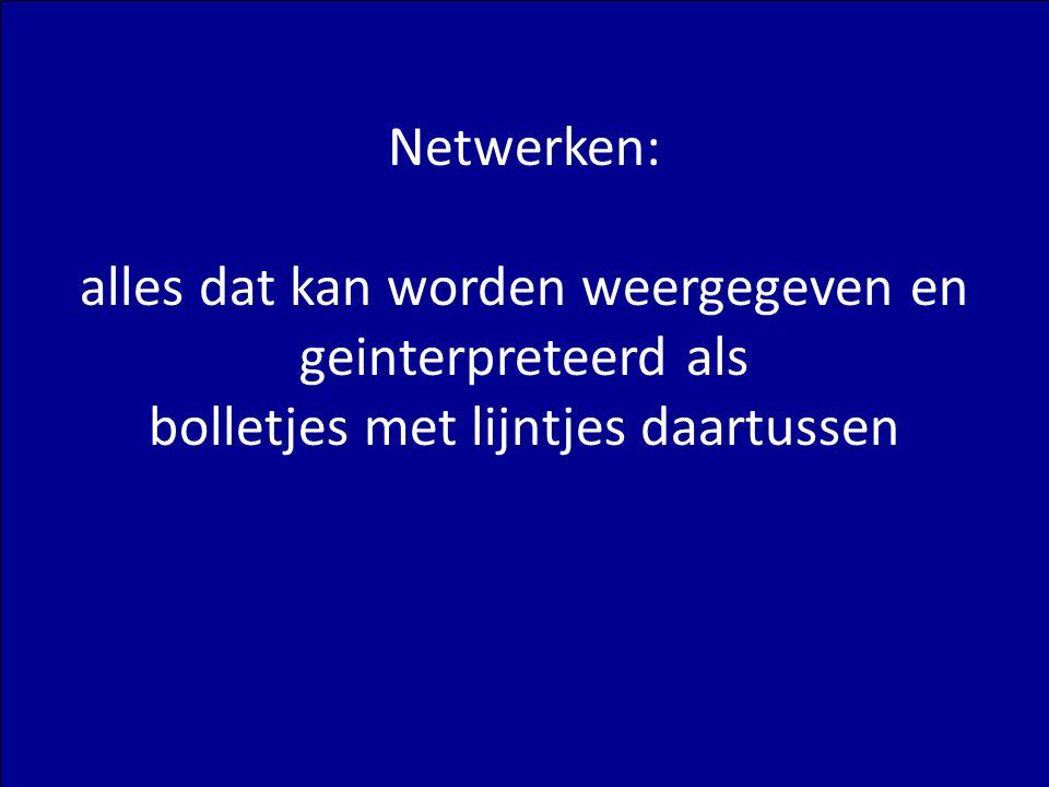 U Matzat – Complexiteit: Netwerken (1) 5 Netwerken: alles dat kan worden weergegeven en geinterpreteerd als bolletjes met lijntjes daartussen