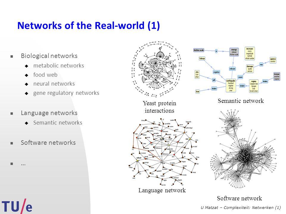 U Matzat – Complexiteit: Netwerken (1) Basic network measurements...