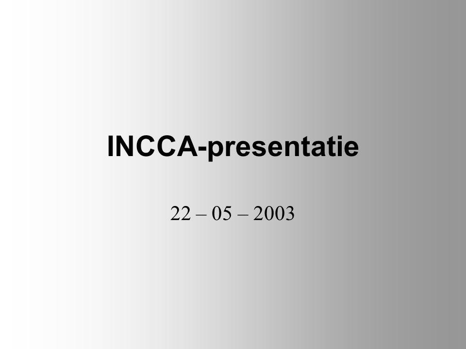 INCCA-presentatie 22 – 05 – 2003