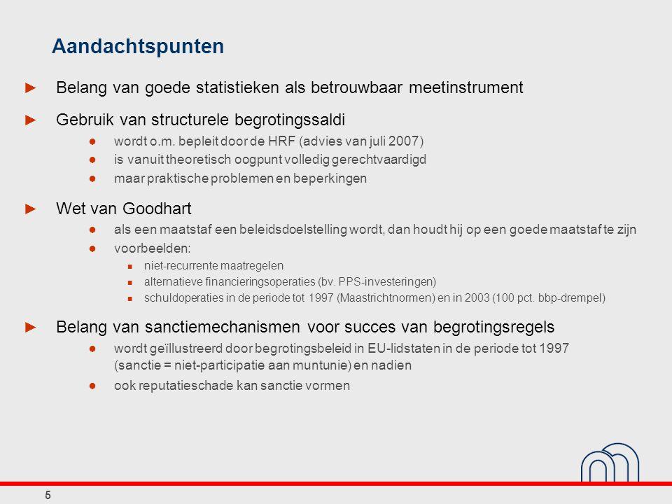 16 Begrotingsinstellingen in België Macro- economische vooruitzichten Normatieve aanbevelingen Beslissings- stadium Economische begroting Vooruitzichten op middellange termijn Vergrijzings- rapport Aanbevelingen inzake begrotings- doelstellingen Begroting Stabiliteits- programma -INR -Federaal Planbureau -SCvV -HRF-afdeling Financierings- behoeften van de overheid - Regering - Parlement