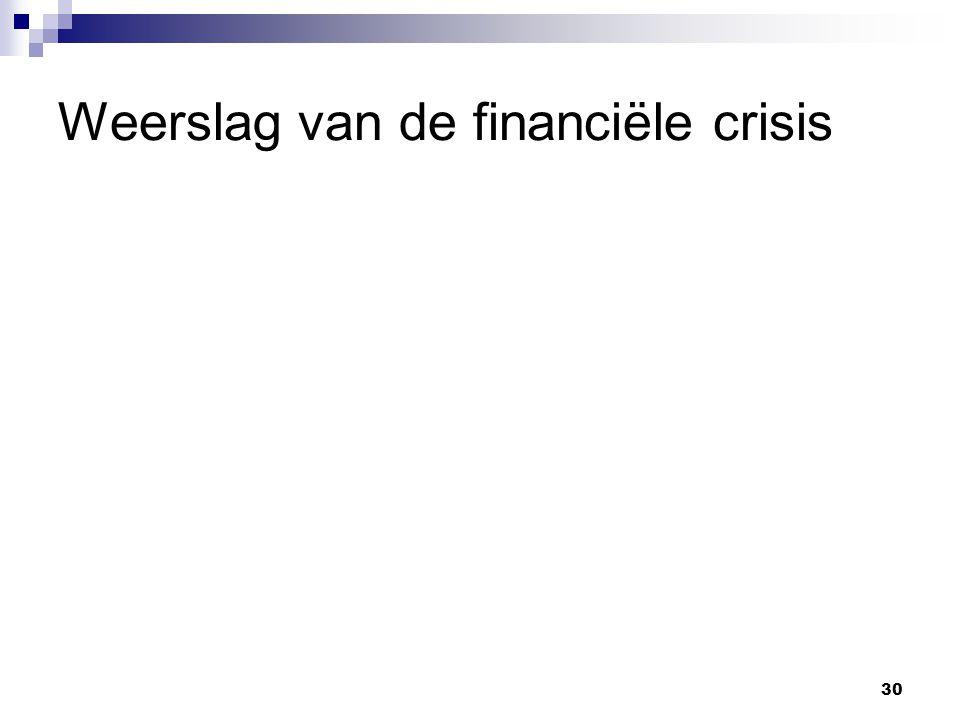30 Weerslag van de financiële crisis