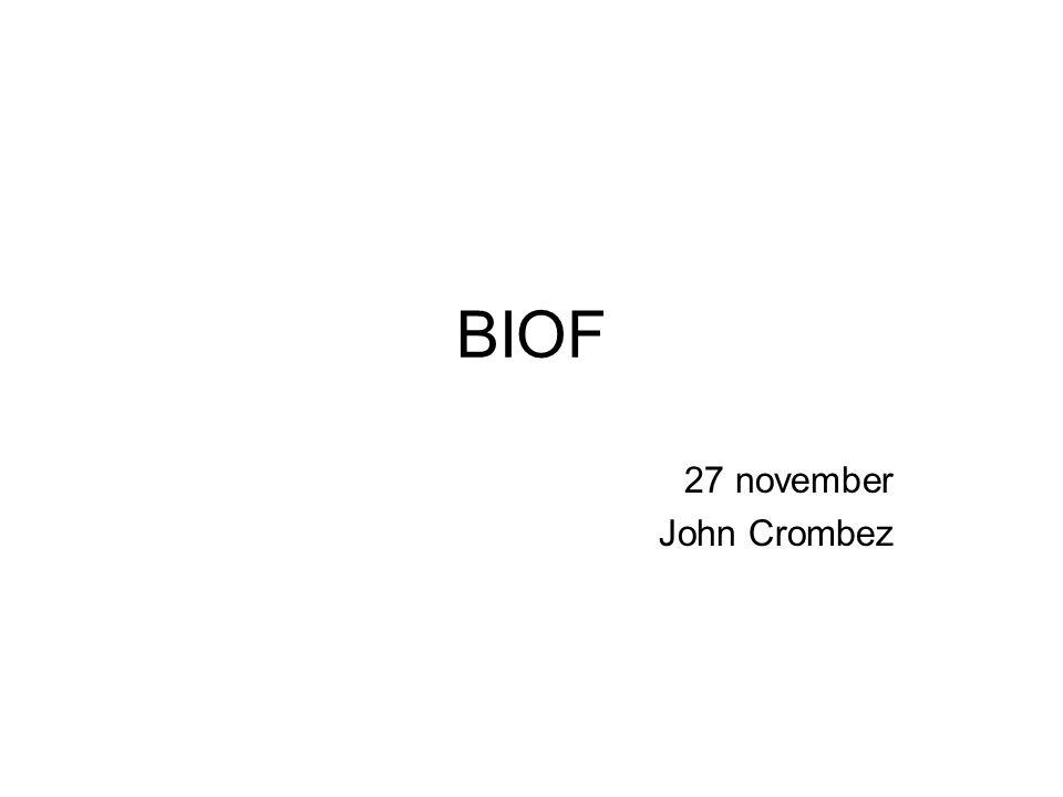 BIOF 27 november John Crombez