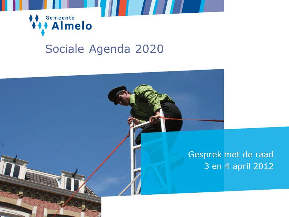 Sociale Agenda 2020 Gesprek met de raad 3 en 4 april 2012