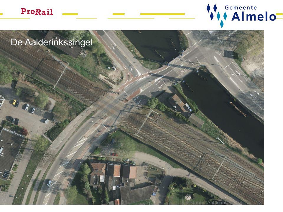 Inleiding Fietstunnel Aalderinkssingel 4 Korte beschrijving voorgeschiedenis: NaNOV; extra geld naar Twente voor overwegen Maatregelenpakket Almelo (5 overwegen aanpakken) Reeds uitgevoerde activiteiten Aalderinkssingel: 1.VRI aangepast 2.'Linksaffer' Slachthuiskade opgeheven 3.Aankondiging treinen verplaatst 4.Tijd voor de volgende stap: de tunnel