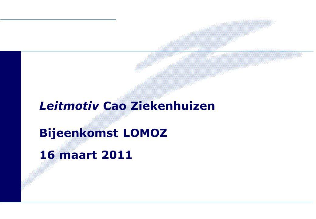 Leitmotiv Cao Ziekenhuizen Bijeenkomst LOMOZ 16 maart 2011