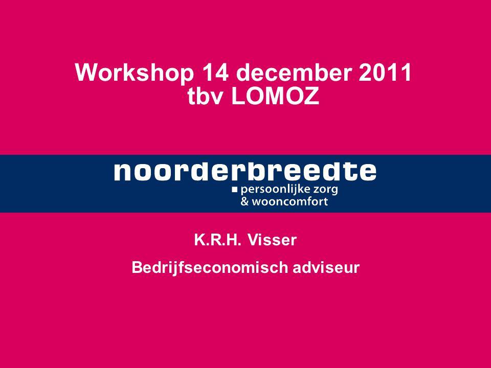 Workshop 14 december 2011 tbv LOMOZ K.R.H. Visser Bedrijfseconomisch adviseur