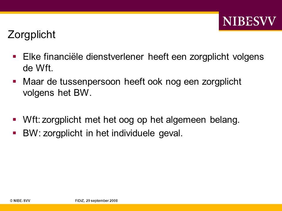 © NIBE-SVV FiDiZ, 29 september 2008 Welke inhoud heeft PE.