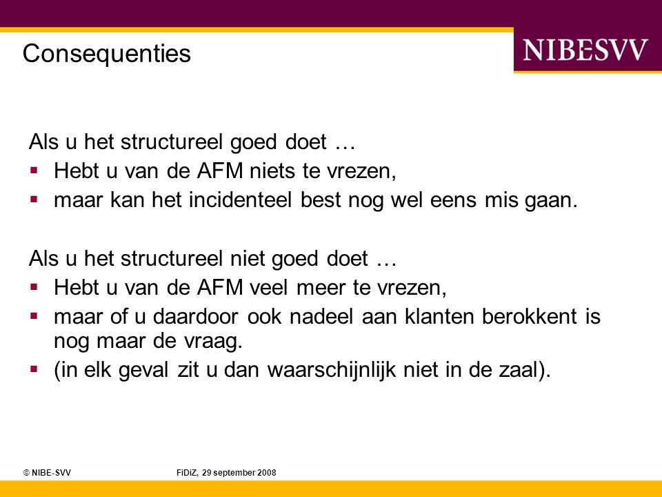 © NIBE-SVV FiDiZ, 29 september 2008 Hoe vaak komen er PE-eisen.