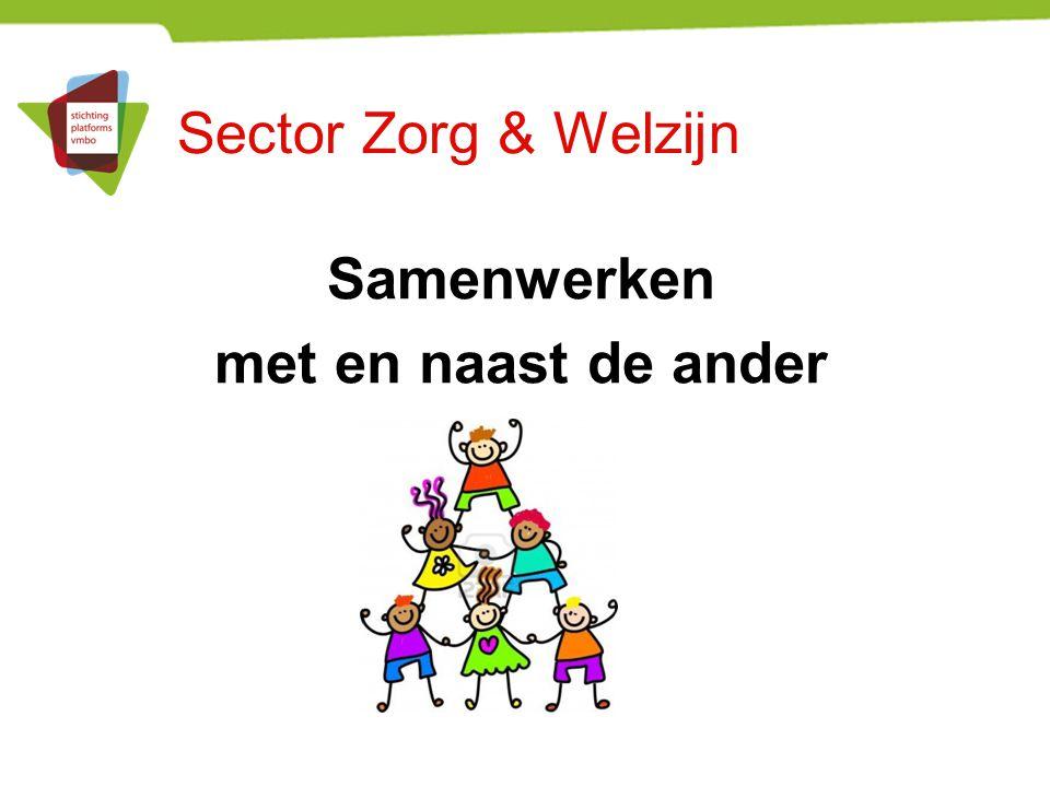 Sector Zorg & Welzijn Samenwerken met en naast de ander
