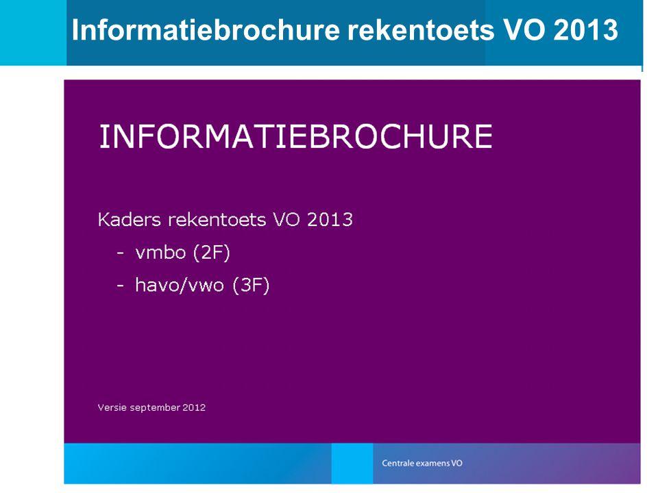 13 Informatiebrochure rekentoets VO 2013