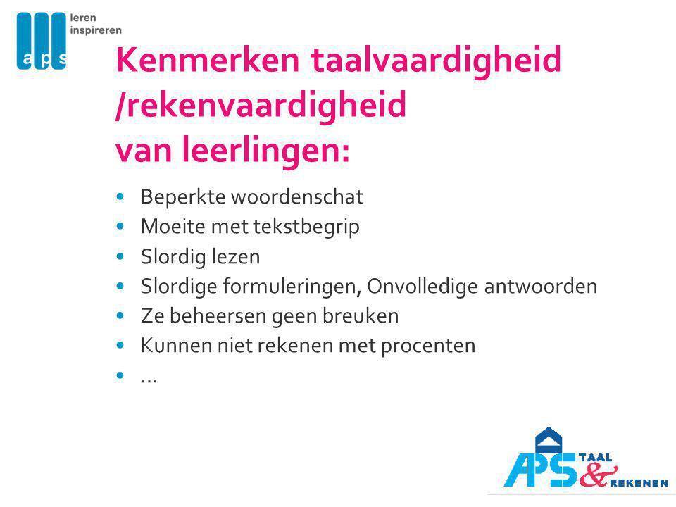 2 problemen en vragen Wat zijn de vragen en problemen bij jullie op school over taal-rekenen.