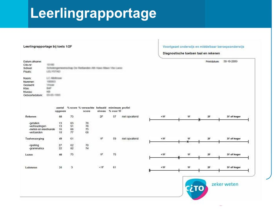 8 Leerlingrapportage