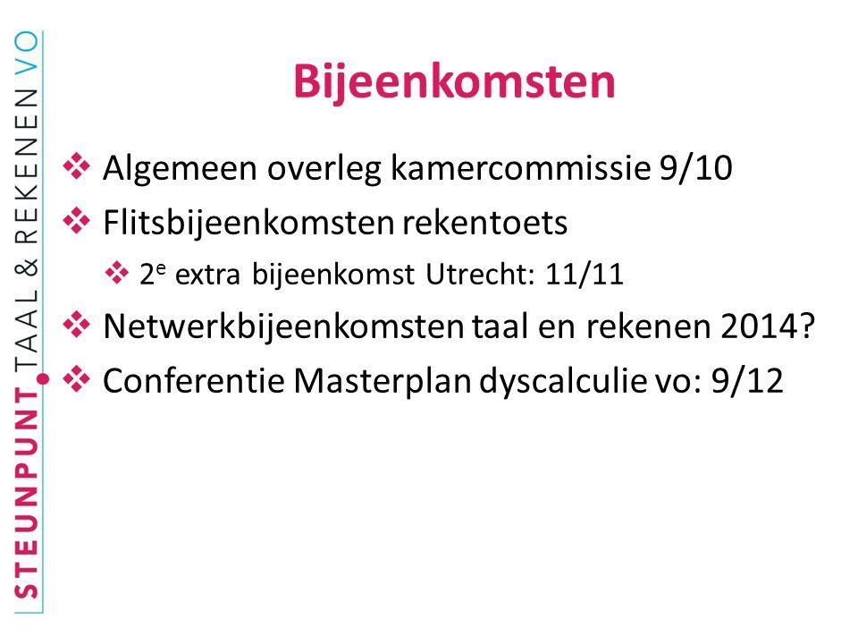  Onderzoek Regioplan: verband rekenbeleid – resultaten pilotrekentoets 2013.