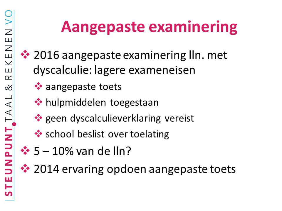  Huidige examens Nederlands:  vmbo-tl iets boven het niveau  vmbo kb en havo op het niveau  vmbo-bb en vwo: onder het ref.niveau => * centraal examen Ne.