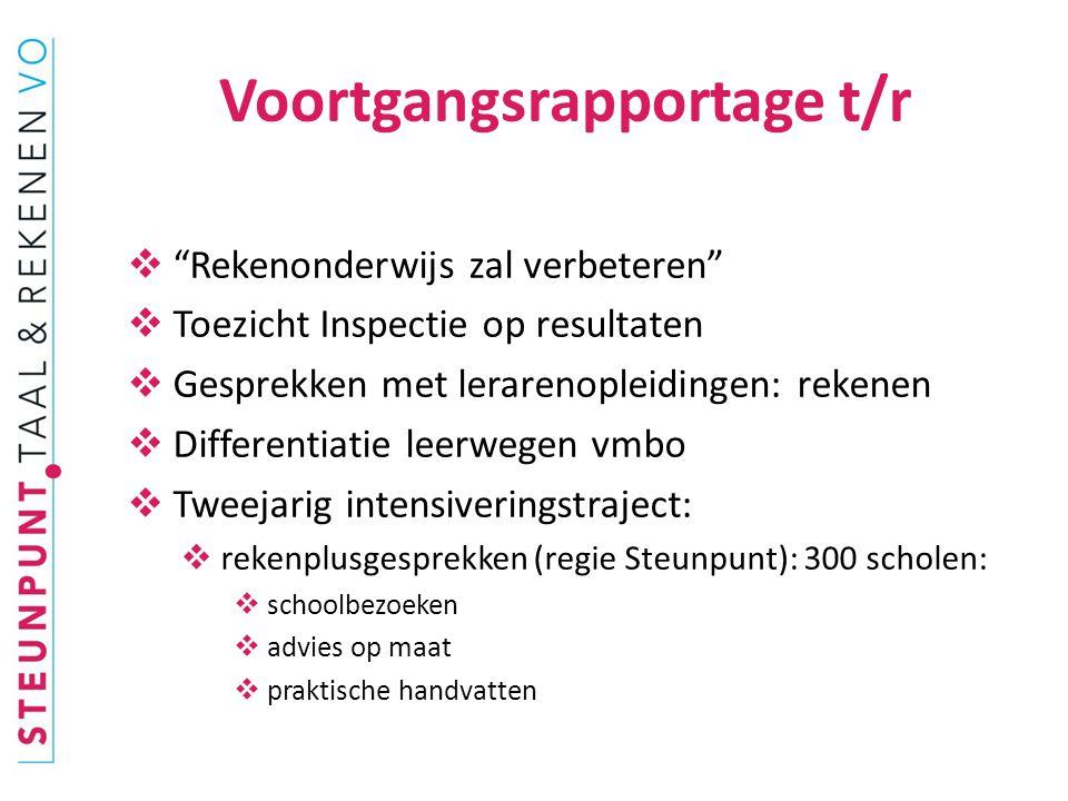  Algemeen overleg kamercommissie 9/10  Flitsbijeenkomsten rekentoets  2 e extra bijeenkomst Utrecht: 11/11  Netwerkbijeenkomsten taal en rekenen 2014.