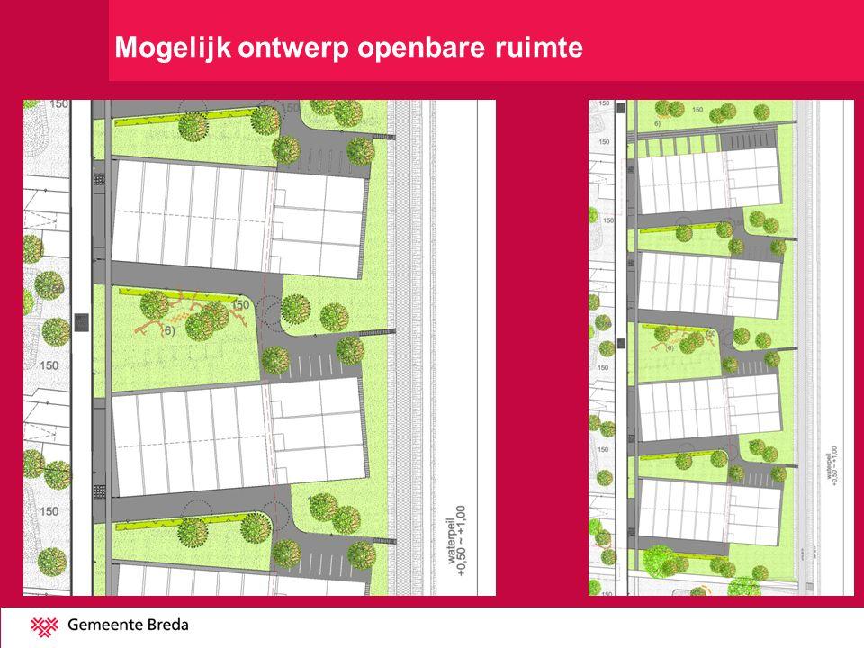 Mogelijk ontwerp openbare ruimte