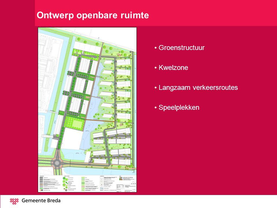 Groenstructuur Kwelzone Langzaam verkeersroutes Speelplekken Ontwerp openbare ruimte