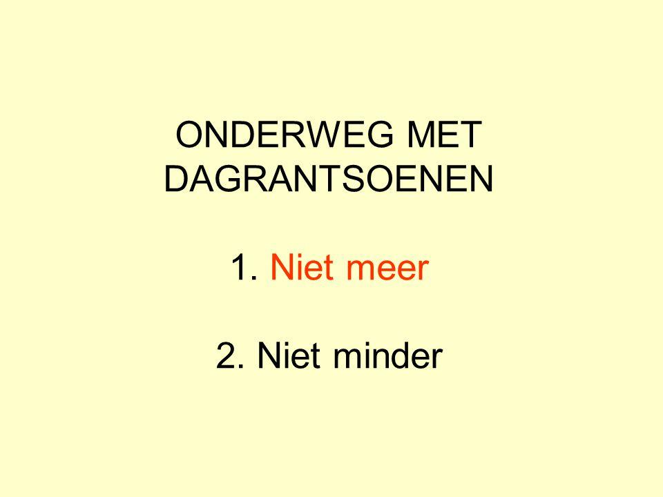 VANDAAG ALLEEN BROOD Het meest onverhoorde gebed in Nederland Bidden om brood, danken voor beleg Oefening in tevredenheid