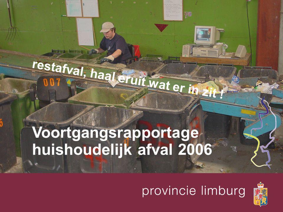 restafval, haal eruit wat er in zit ! Voortgangsrapportage huishoudelijk afval 2006