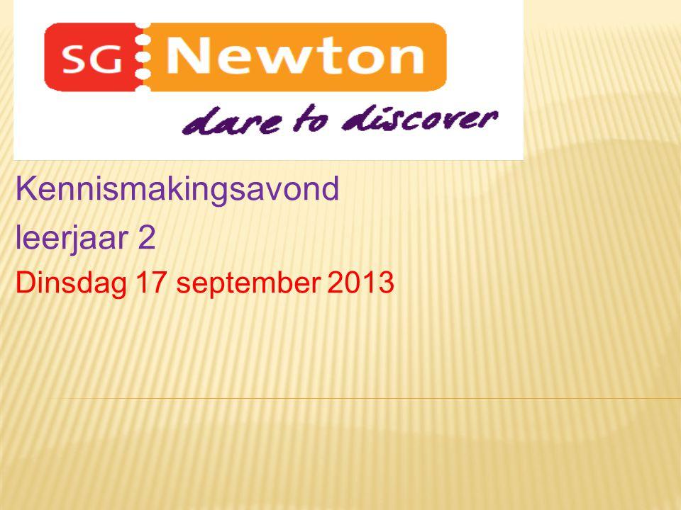 Kennismakingsavond leerjaar 2 Dinsdag 17 september 2013