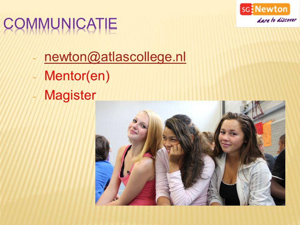 - newton@atlascollege.nl newton@atlascollege.nl - Mentor(en) - Magister