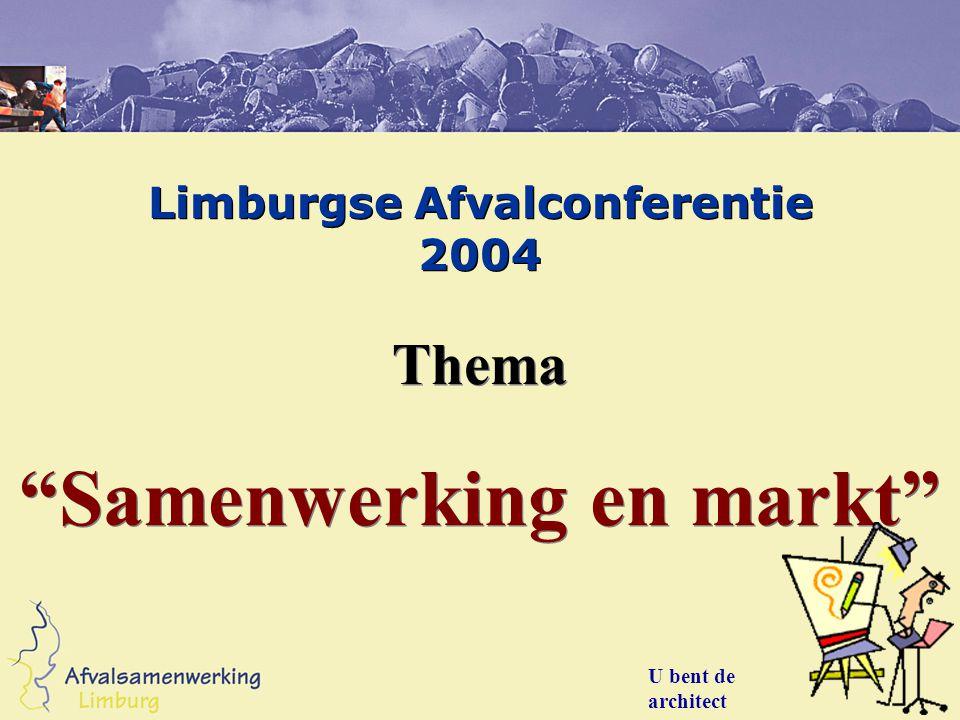 """Limburgse Afvalconferentie 2004 Thema """"Samenwerking en markt"""" Thema """"Samenwerking en markt"""" U bent de architect"""