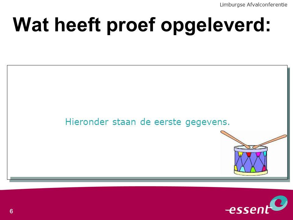 7 Volgende stappen Optimaliseren van afzet nagescheiden kunststoffen Ervaring omzetten naar een operationeel systeem om maatschappelijk laagste kosten te realiseren Opschalen naar bestaande installaties Aanbieden aan contractpartners 2008/2009 2009/2010 Aandachtspunten voor uitrol: - vergoedingen structuur - inzicht na 2011 Limburgse Afvalconferentie