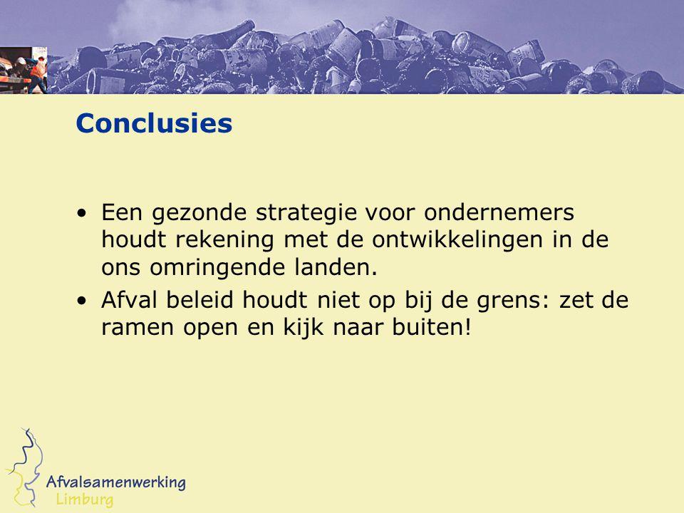 Conclusies Een gezonde strategie voor ondernemers houdt rekening met de ontwikkelingen in de ons omringende landen.
