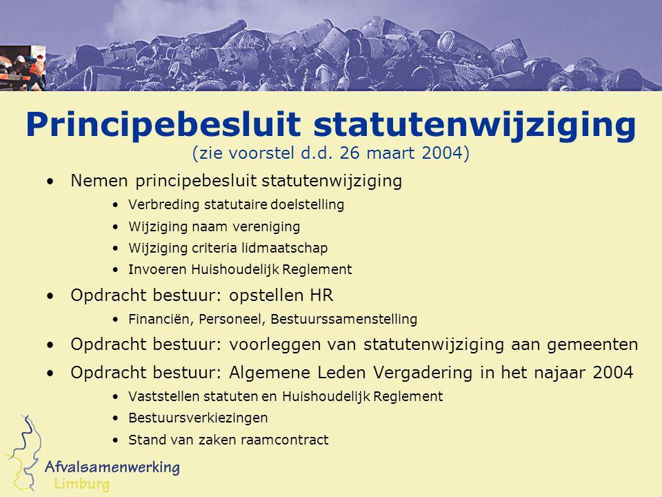 Principebesluit statutenwijziging (zie voorstel d.d.