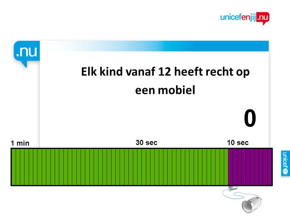 Elk kind vanaf 12 heeft recht op een mobiel 1 min 30 sec 10 sec 9876543210